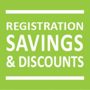 Registration Savings & Discounts