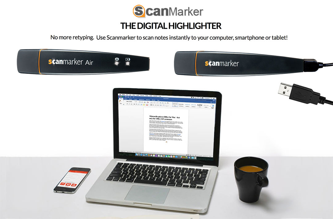 The Digital Highlighter, Use Scanmarker to Scan Notes