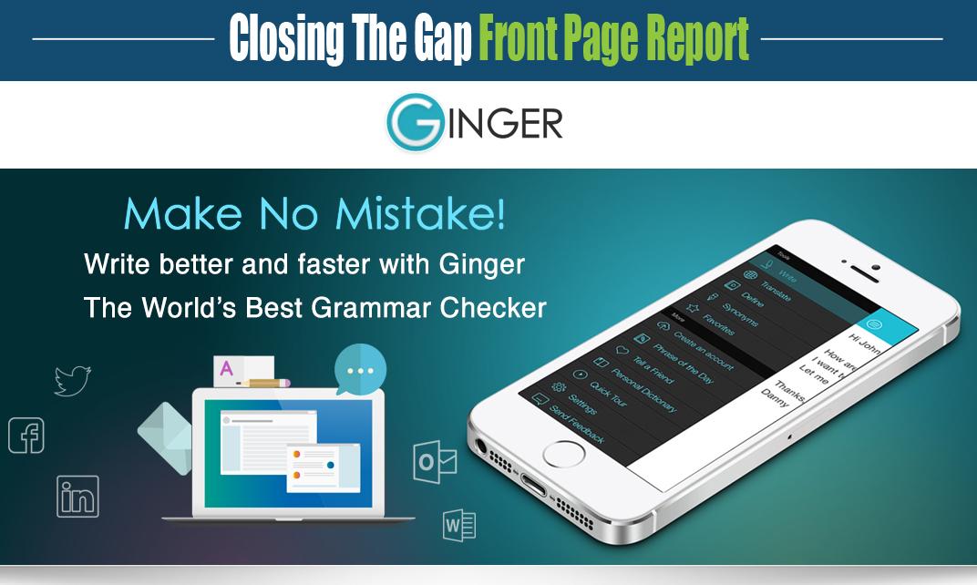 Ginger - Make No Mistake! The World's Best Grammar Checker  Closing