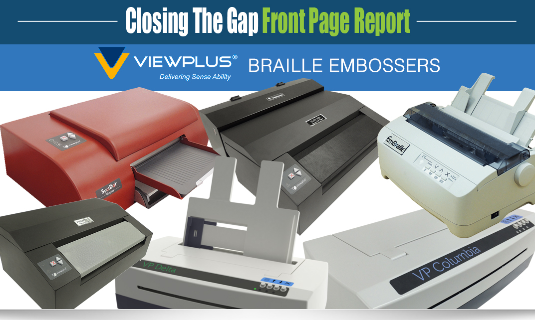 Front Page Report cover of ViewPlus Embossers