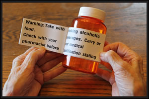 Picture of large print on prescription bottle
