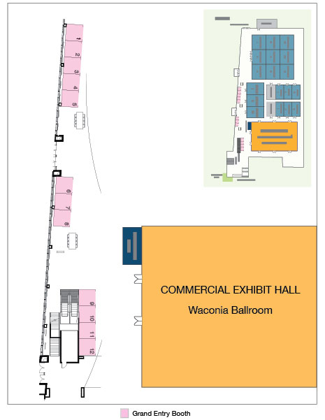 Map of Grand Entry Booths
