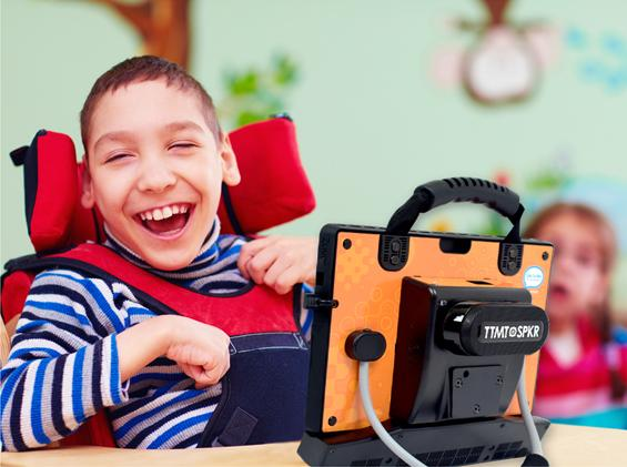 Picture of a boy using the zuvo device