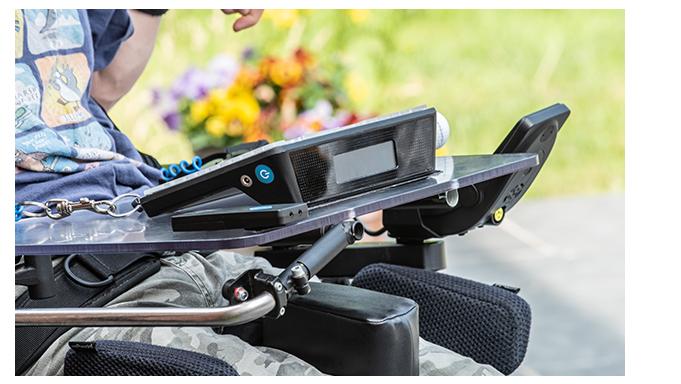 Joe Grid Pad 10s On Wheelchair