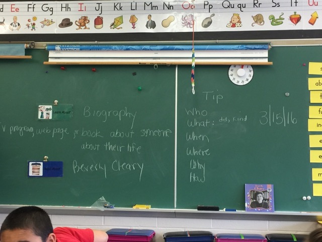 Picture of classroom chalkboard.