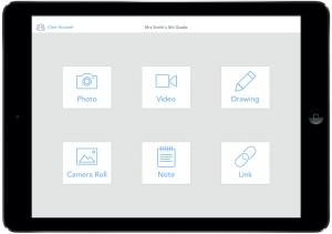 Screenshot of Seesaw app.