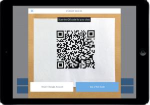 Screenshot of QR Code reader.