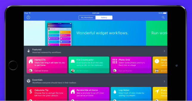 Workflow on iPad