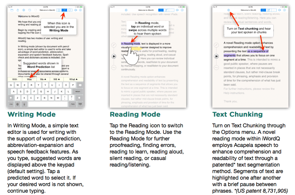 Advanced In-Context Word Prediction and Speech Feedback for